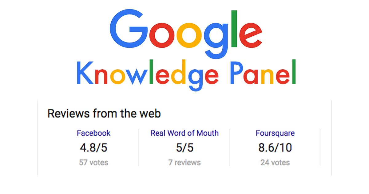 Google Knowledge Panel reviews from the web